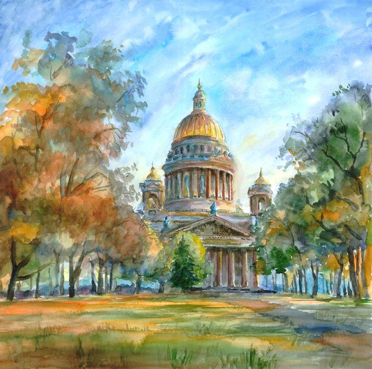 расскажем санкт-петербург рисунки акварелью рецепты