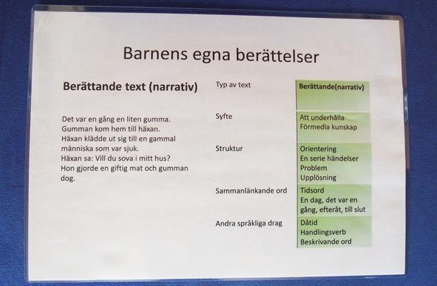 Genrepedagogik med Putte i Blåbärsskogen - Pedagog Stockholm
