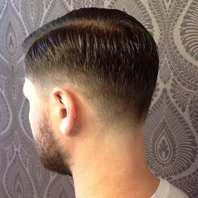 men hairstyle crew cut back