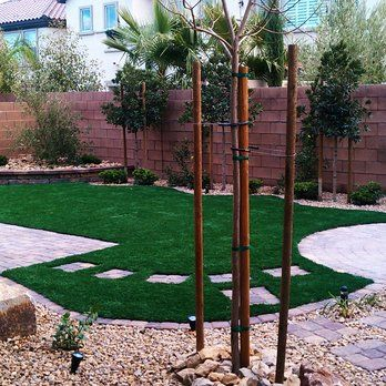 Pet Friendly Back Yard With Syn Grass, Pavers U0026 Water Wise Landscaping.  Designed By. Landscaping Las VegasWater Wise LandscapingBackyard ... Home Design Ideas