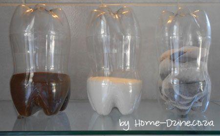Potinho feito de Garrafas de Plástico PET Recicladas