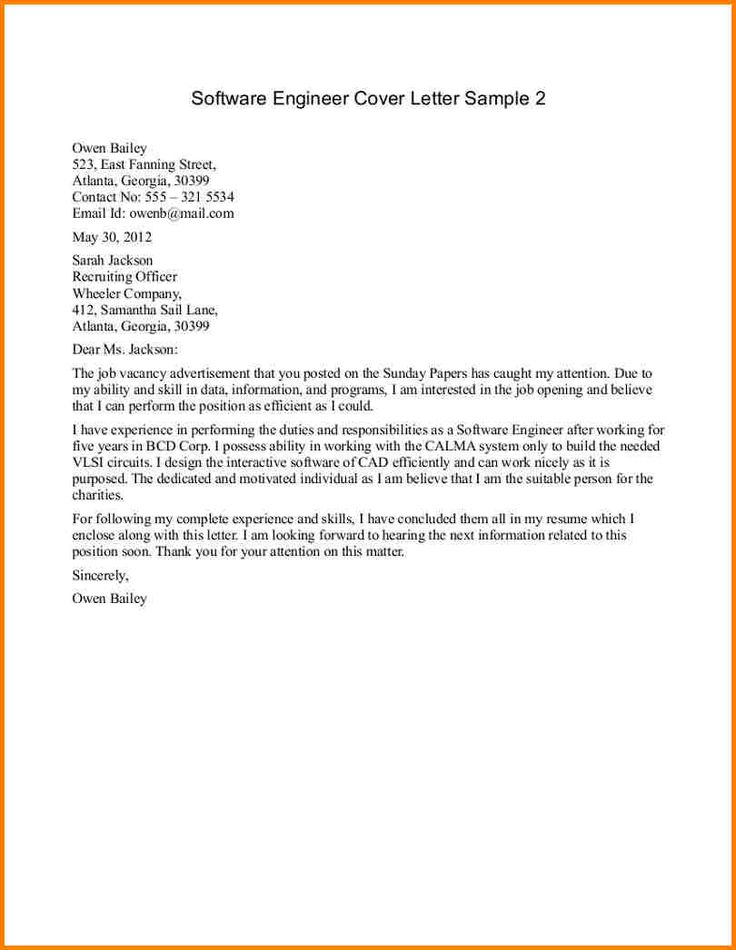 Cover Letter Examples For Civil Engineer Example