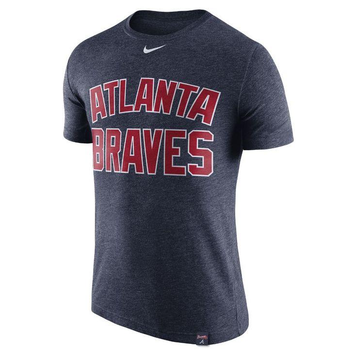 Nike Tri-Blend DNA (MLB Braves) Men's T-Shirt Size