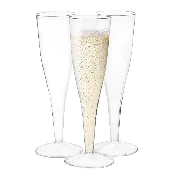 Plastic Champagne Flutes, Glass Champagne Flutes Bulk