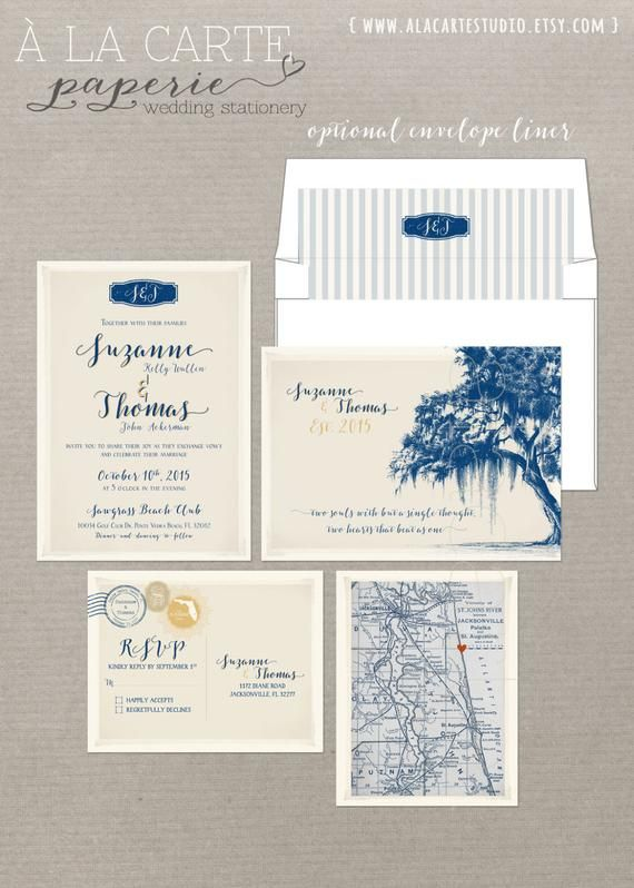 Destination Wedding Invitation Vintage