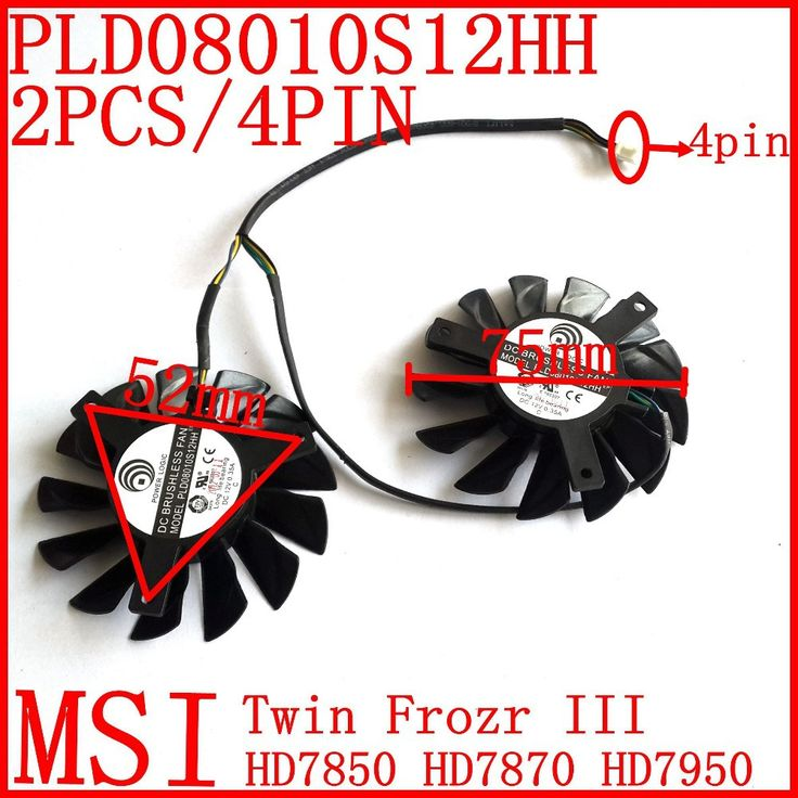 Free shipping  PLD08010S12HH 2pcs/lot 4PIN 75mm 52x52x52mm  for MSI HD7850 HD7950 HD7870   Graphics card  fan MSI Twin Frozr III Nail That Deal http://nailthatdeal.com/products/free-shipping-pld08010s12hh-2pcslot-4pin-75mm-52x52x52mm-for-msi-hd7850-hd7950-hd7870-graphics-card-fan-msi-twin-frozr-iii/ #shopping #nailthatdeal
