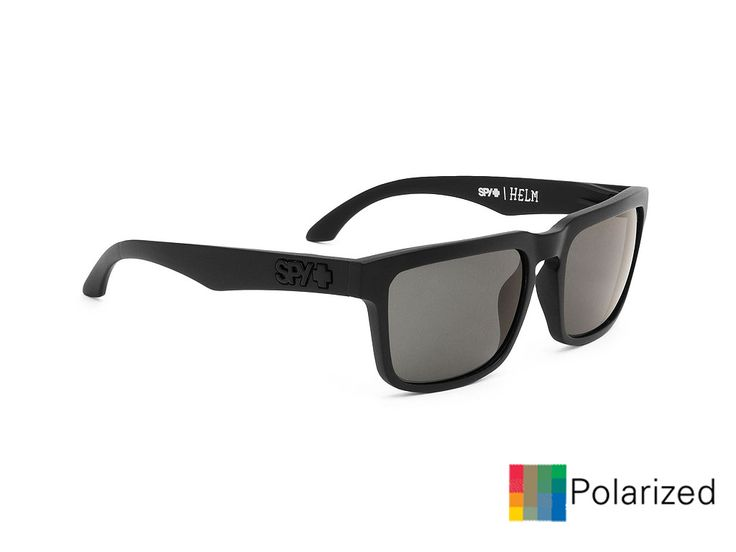 Spy Ηelm/Matte Black-Grey Polarized/57-18 #spy #sunglasses #optofashion Το Spy Helm είναι ενα κοκκάλινο γυαλί ηλίου με μαύρο ματ πλαίσιο και γκρί πολαριζέ φακό. Το μεσαίο μέγεθός του και το ορθογώνιο σχήμα του ικανοποεί τα περισσότερα σχήματα προσώπου. Επέλεξε το Spy Ηelm/Matte Black-Grey Polarized για μια ξεχωριστή και έξυπνη επιλογή.
