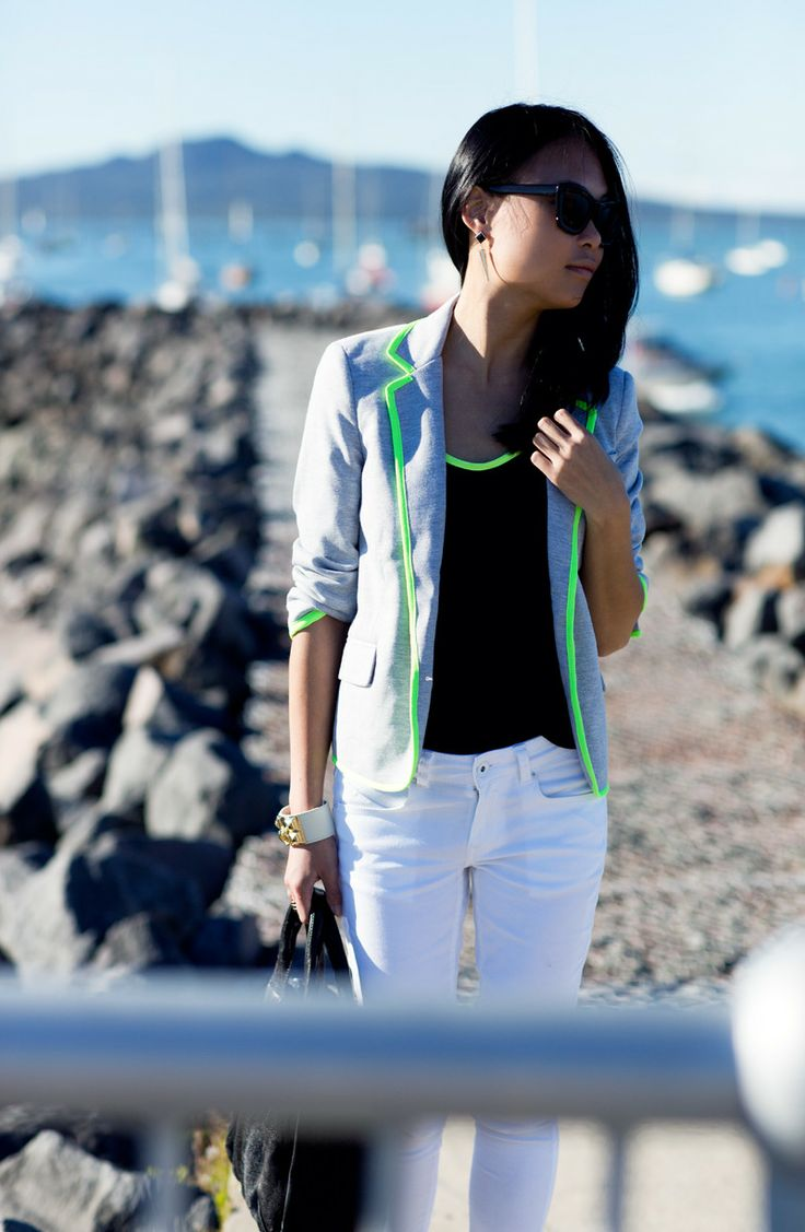 neon trim = amazing! via fashion distraction