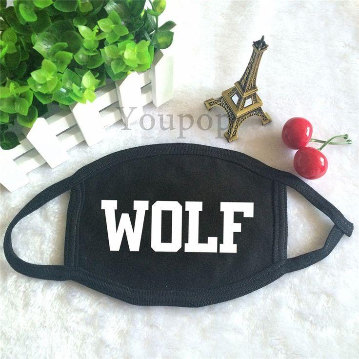 EXO XOXO First Album Wolf 88 Single Text Letter Fashionable Face Mask #EXO #XOXO #FirstAlbum #Wolf #88 #Single #Text #Letter #Fashionable #Facemask #KidolStuff