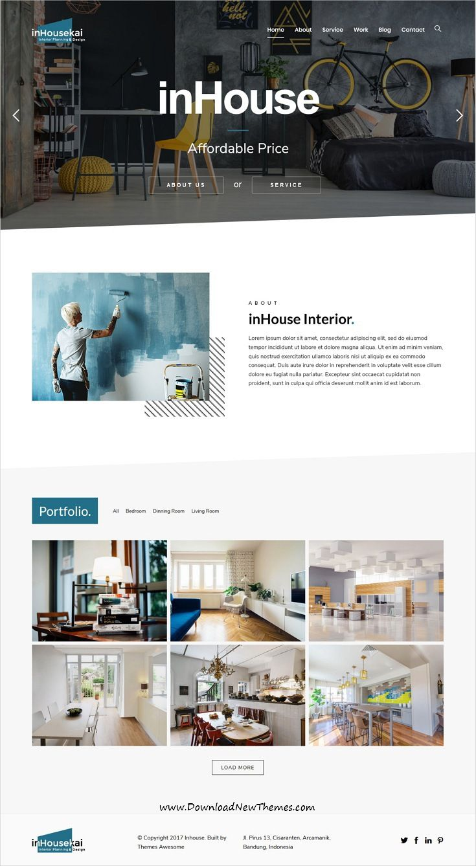 Inhousekai | Modern Design Interior WordPress Theme | Wordpress