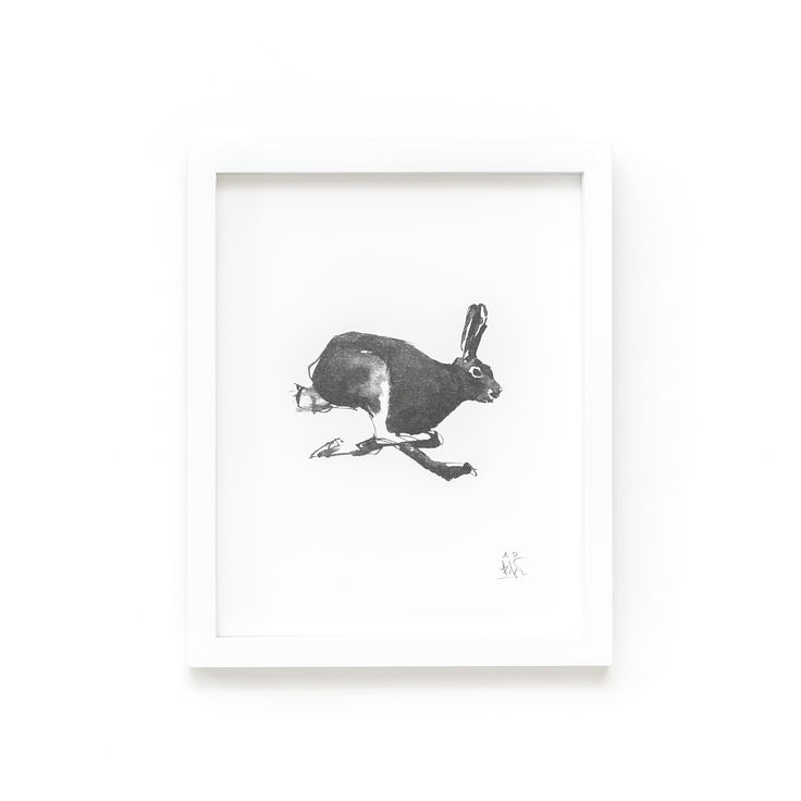 Mountain Hare Fine Art Print on Paper Teemu Järvi Illustrations http://www.teemujarvi.com/en/shop/paper-prints/58-hare-art.html