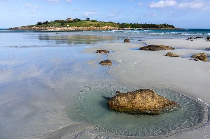 balade photo en Finistère, Bretagne et...: reflets à marée descendante au Dossen - Santec (7 photos)