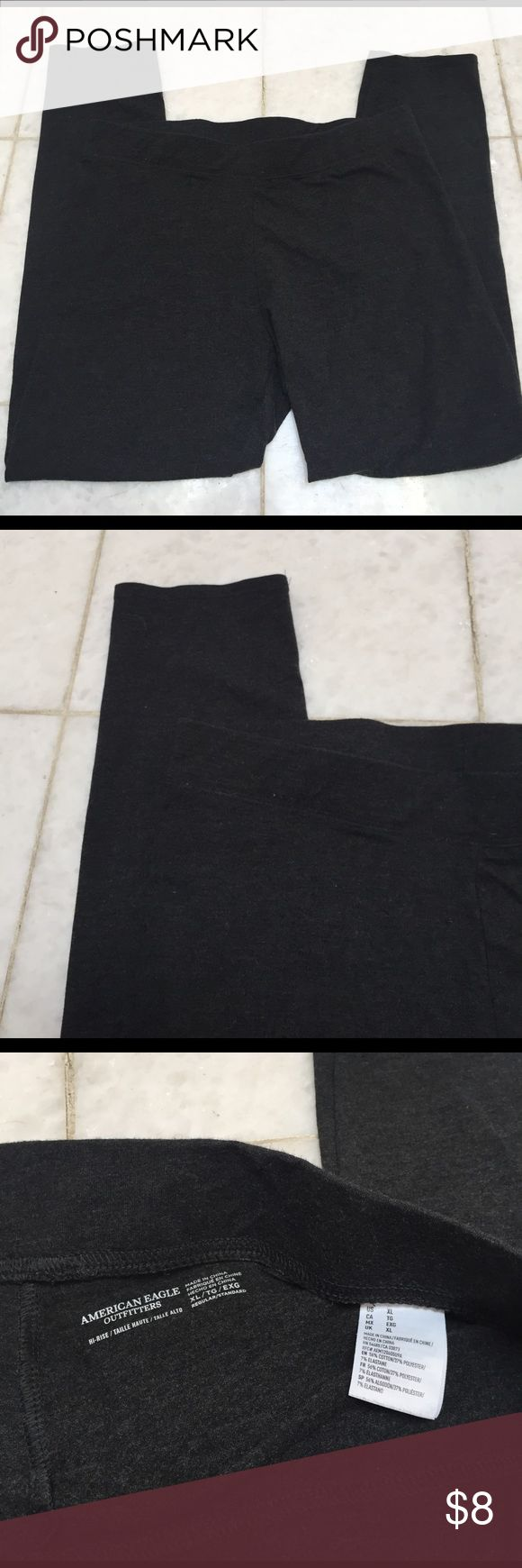 American Eagle Charcoal Gray Leggings Very soft and stretchy pair of charcoal gray leggings from American Eagle! Size XL! Only worn once but they were too short for me. Please feel free to leave any questions or comments down below! Thanks! American Eagle Outfitters Pants Leggings