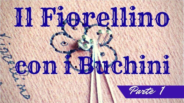 Encaje de bolillos - Flor de Cantù - primera parte