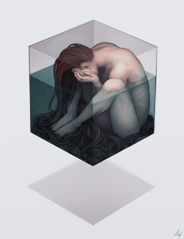 Confined by Lyndsey Vu, via Behance - disturbing depiction of how I feel sometimes.