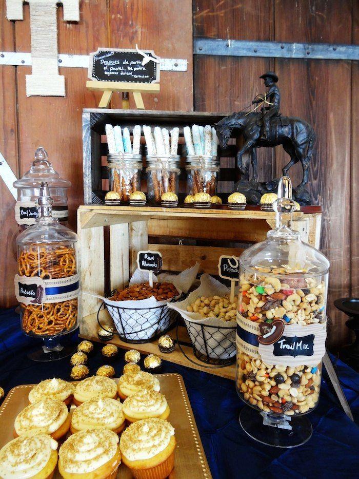 Western Party Backdrops   Western themed 55th birthday party with So Many Fun Ideas via Kara's ...