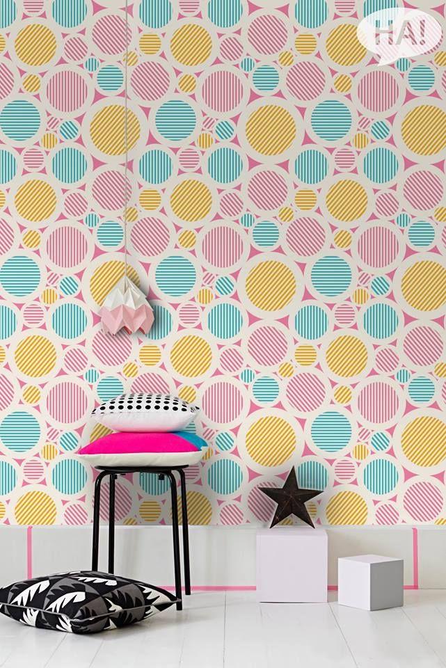 Φωτεινά παιδικά καταφύγια!  Tαπετσαρία τοίχου: http://www.houseart.gr/select_use.php?id=281&pid=11711  #houseart #wallpaper #colors #kids #pastel #diy #home #kids_room