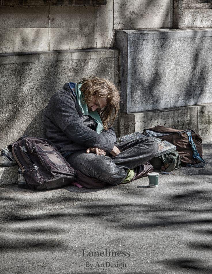 """Loneliness"" Photo de rue Paris 2014  Photographe: Artdesign"