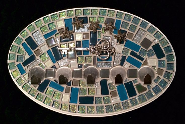 Mosaic Key Holder 'By the Sea'