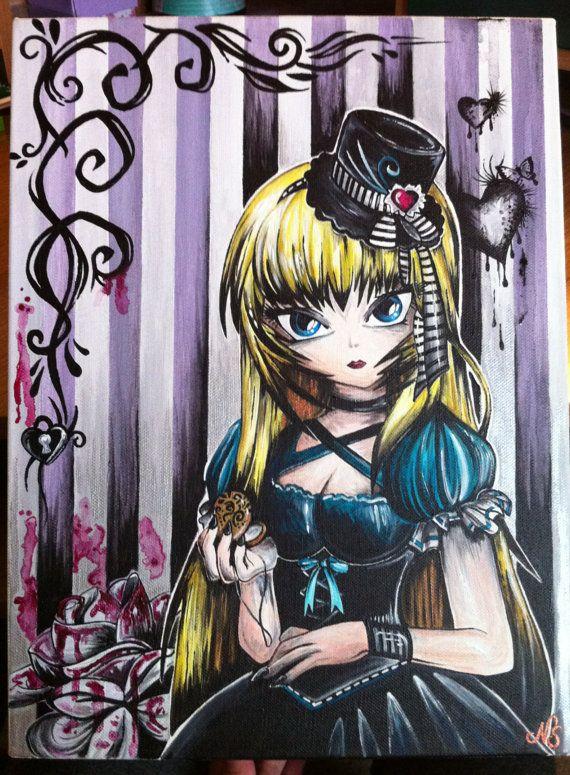 Alice in Wonderland original REDUCED from 450.00 by BrushStokes