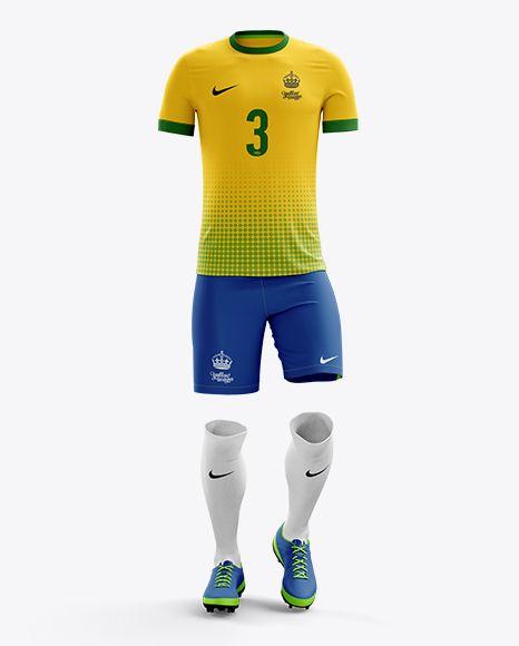 Men's Full Soccer Kit Mockup - Front View (Preview)