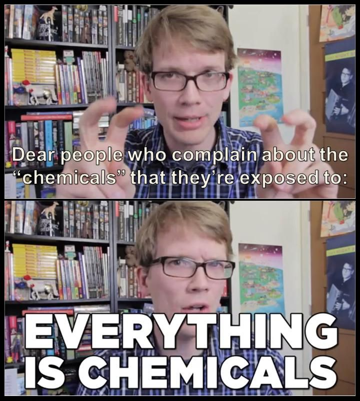 My God, it's full of chemicals.