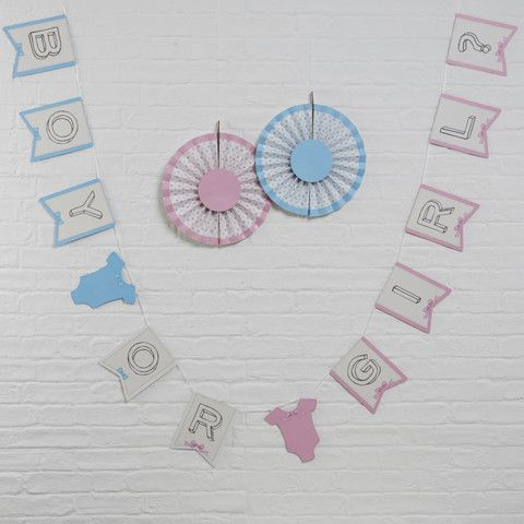 Little Lady Mini Mister - Baby Shower Bunting