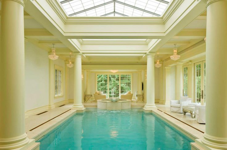 13 best swimming pools images on pinterest for Luxury home plans with indoor pool