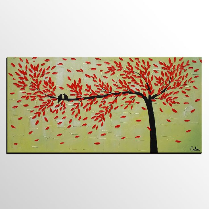 Abstract Art Modern Love Birds Painting For Sale Dining Room