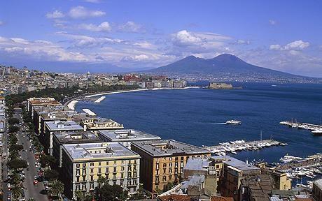 Naples, Italy- Mt. Vesuvius in the background!