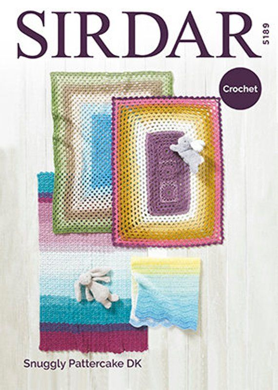Various Colours Avail Free Blanket Pattern Sirdar Snuggly Pattercake DK