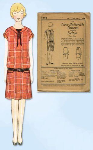 1920s-VTG-Butterick-Sewing-Pattern-1399-Uncut-Junior-Girls-Flappper-Dress-Sz-31B