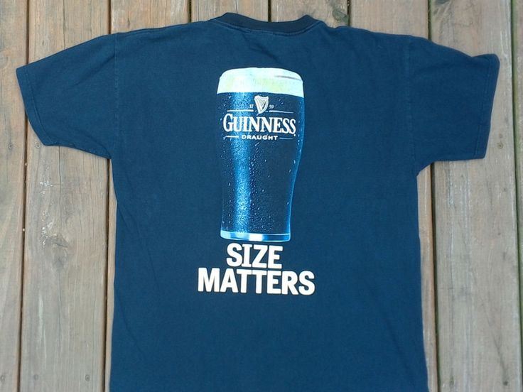 Mens Graphic Tee Shirt Official Guinness Draught Beer Size Large L Size Matters  #Unbranded #GraphicTee