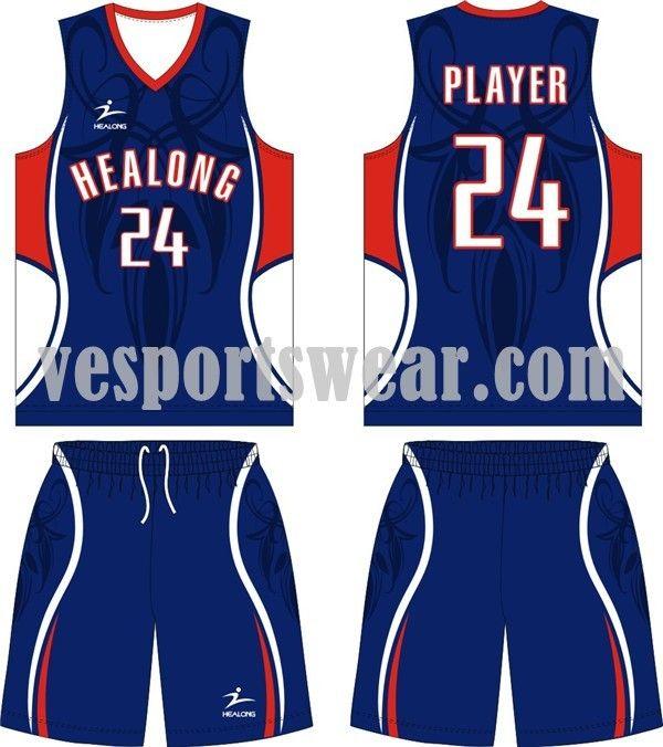 Cheap 100% polyester basketball jerseys kit