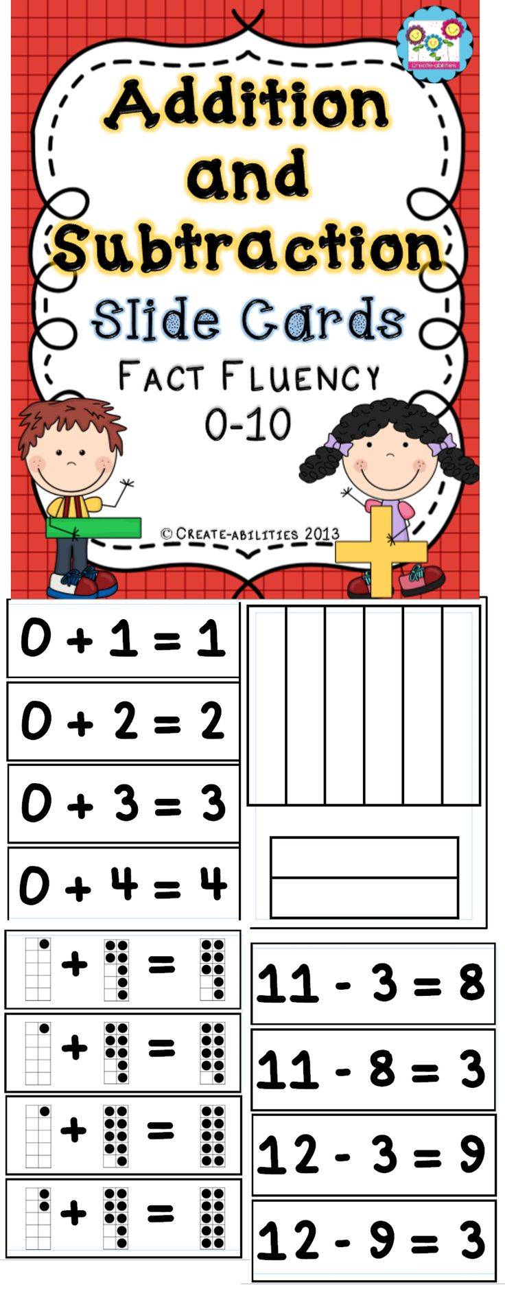 Slide Cards for Addition and Subtraction | The o'jays ...