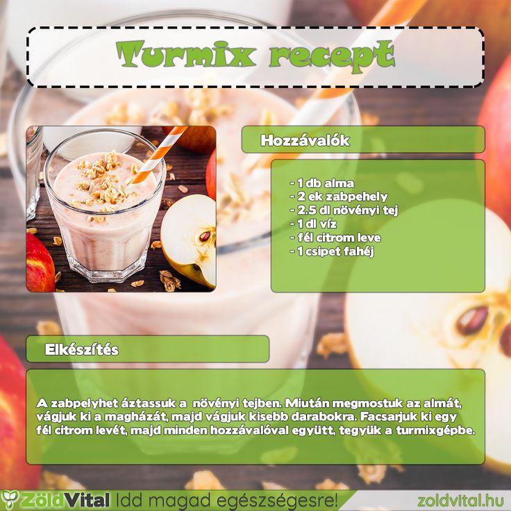 Zabpelyhes almaturmix recept- #turmix #recept