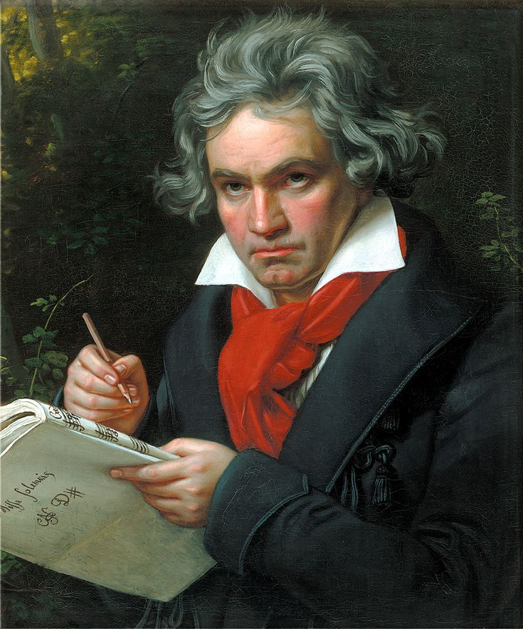 Joseph Karl Stieler (1781–1858) Portrait of Ludwig van Beethoven when composing the Missa Solemnis, 1820