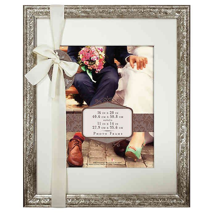 Beveled Matted 11 Inch X 14 Inch Photo Frame In Champagne Bed Bath Beyond Champagne Bed Bed Bath And Beyond Frames On Wall
