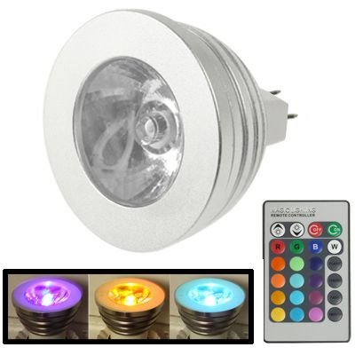 [$2.91] MR16 5W RGB LED Light Bulb with Remote Controller, Luminous Flux: 400-450lm