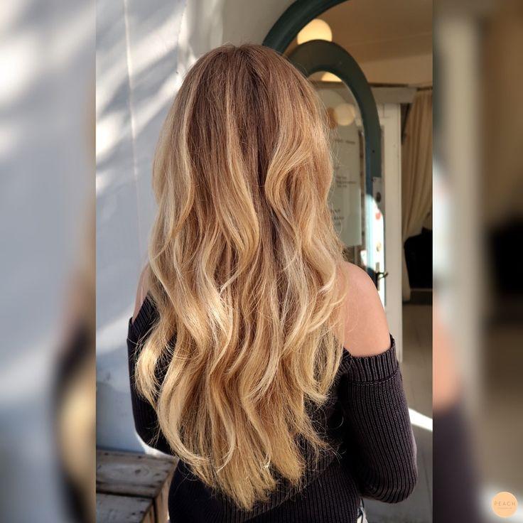 warm blond balayage