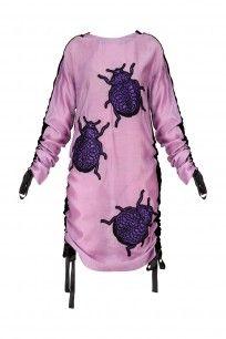 dhruv kapoor Lavender Bugs Motifs Pull Up Dress
