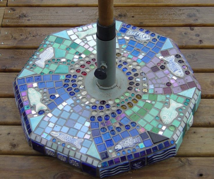 Umbrella Stand Mosaic...love This!