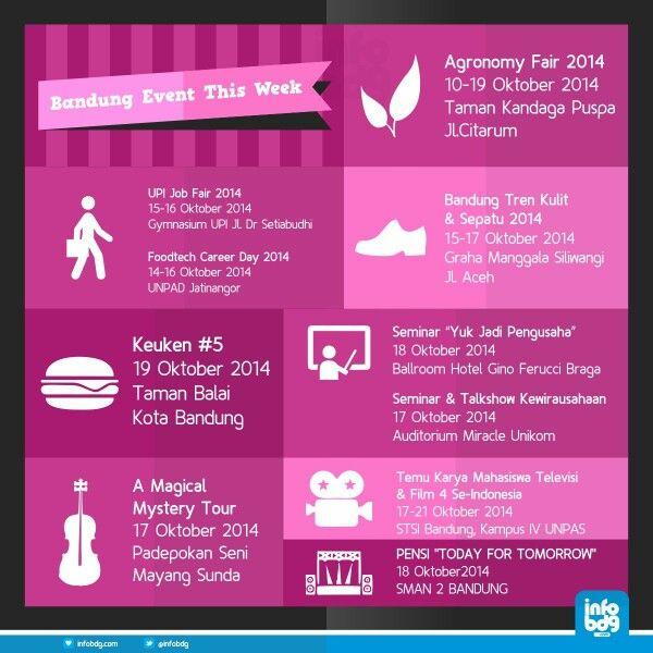 Event-event kece minggu ini di Bandung, come on!