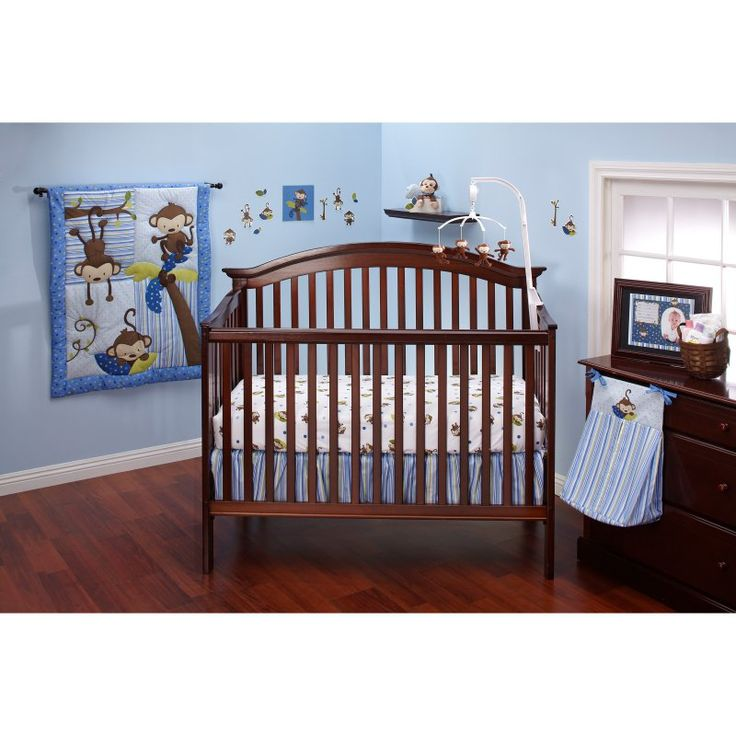 Little Bedding by NoJo 3 Little Monkey Boy Crib Set - 7375660
