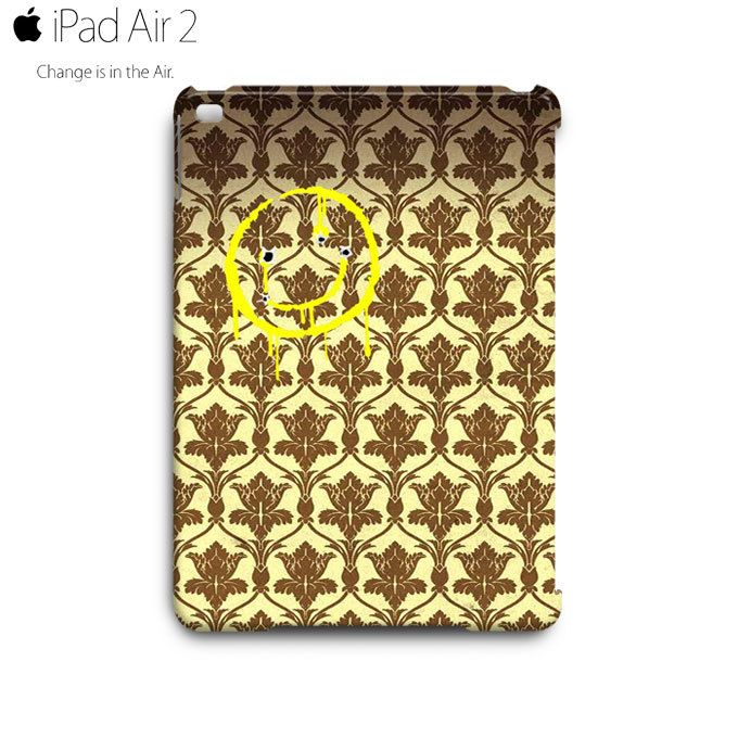 Sherlock Holmes Smiley Wallpaper iPad Air 2 Case Cover Wrap Around