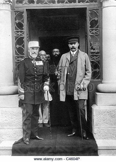 1909 : King Carol I of Romania and Franz Ferdinand