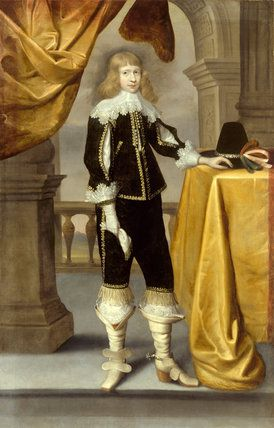 Portrait of a young Cavalier, possibly Edward Bowar, from Treasurer's House, York, England - English arist, 17th century