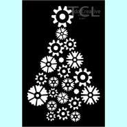 Tando Creative - Steampunk Christmas Tree 14,5x14,5cm Mask/Stenc