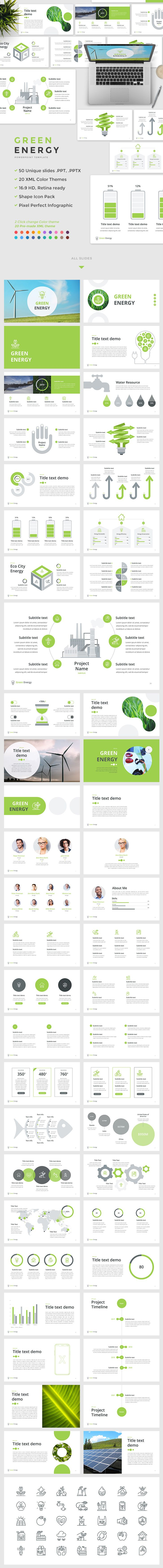 The 25 best powerpoint icon ideas on pinterest power point green energy powerpoint template 50 unique slides ppt pptx 20 pre made color themes xml files pixel perfect infographic shape icon pack no need toneelgroepblik Image collections