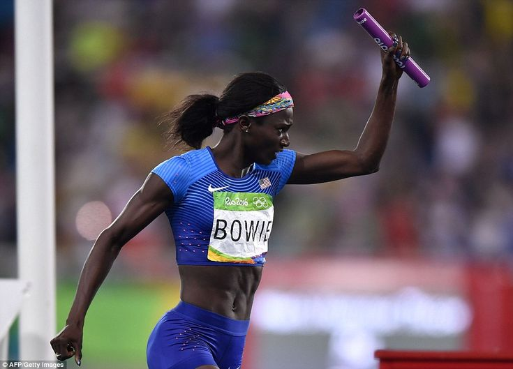 USA GOLD IN 4X100M RELAY! Rio 2016   ... Frentorish (Tori) Bowie celebrates her team's victory in the Women's 4x100m Relay GOLD Medal FINAL! #Beautiful